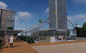 Projeto da estufa Smart Local Farms nas dependencias da ADVB-RS em Porto Alegre.