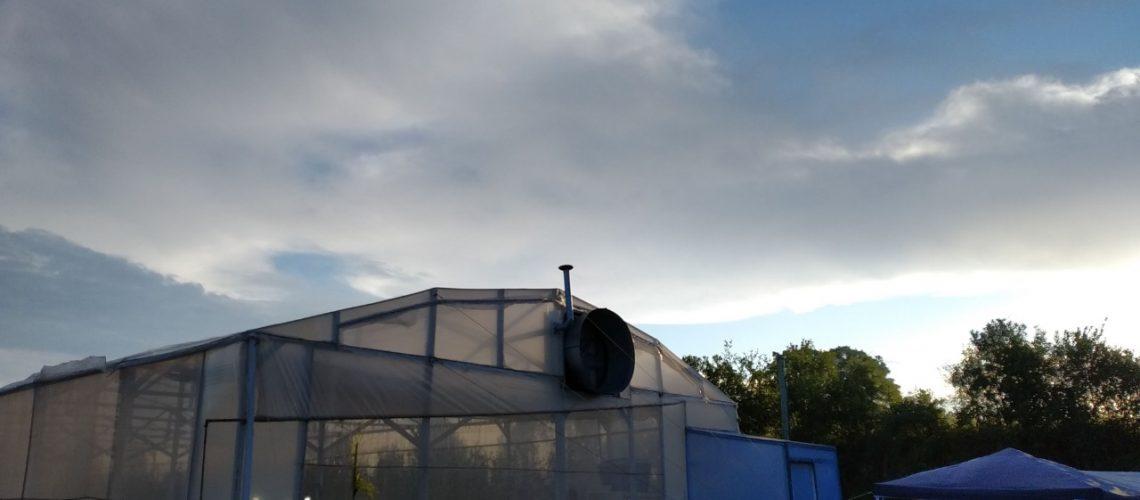 Estufa de testes Elysios, local do dia de campo.