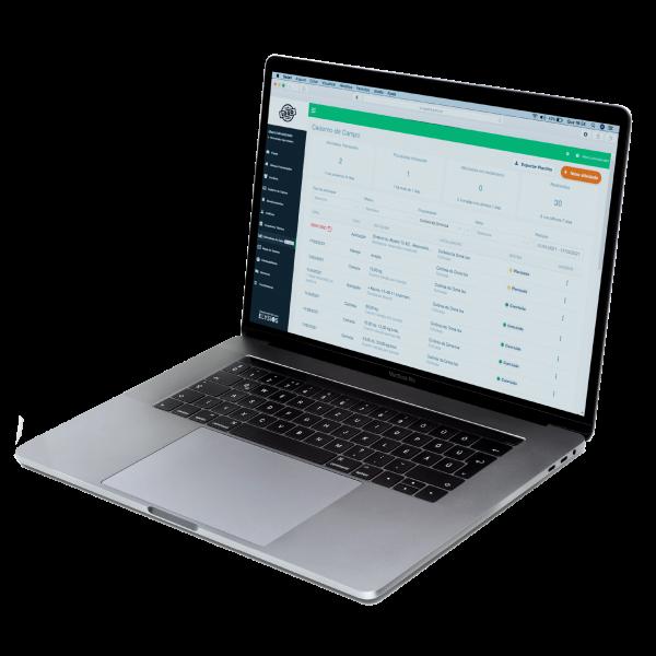 Plataforma digital que também gera relatórios das atividades no campo.