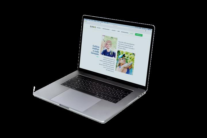 Página da Venturin Uvas Finas auxiliando na sua comunicação e  comercialização